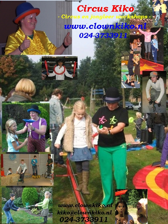 Circus Kiko circus workshops & workshop jongleren, workshop diabolo, workshop chinese borden draaien en workshop ballon figuren vouwen