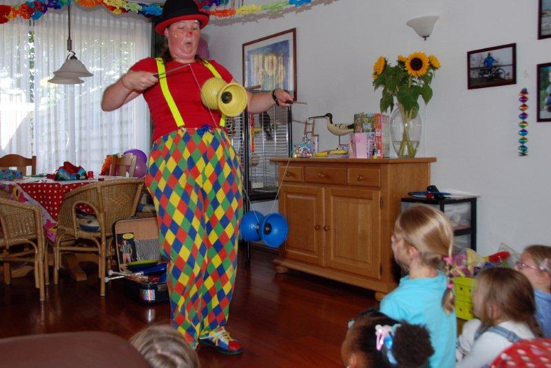 Ballonnenclown kinderfeestje